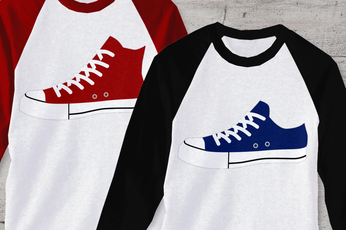 Canvas Sneakers SVG File Cutting Template example image 1