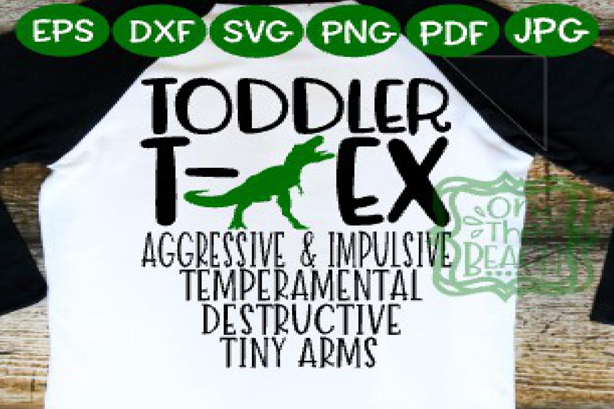 Toddler - Toddler SVG - Toddler T-Rex shirt design SVG example image 1