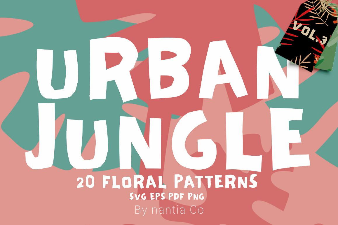 20 Urban Jungle Pattern Vol.3 example image 1