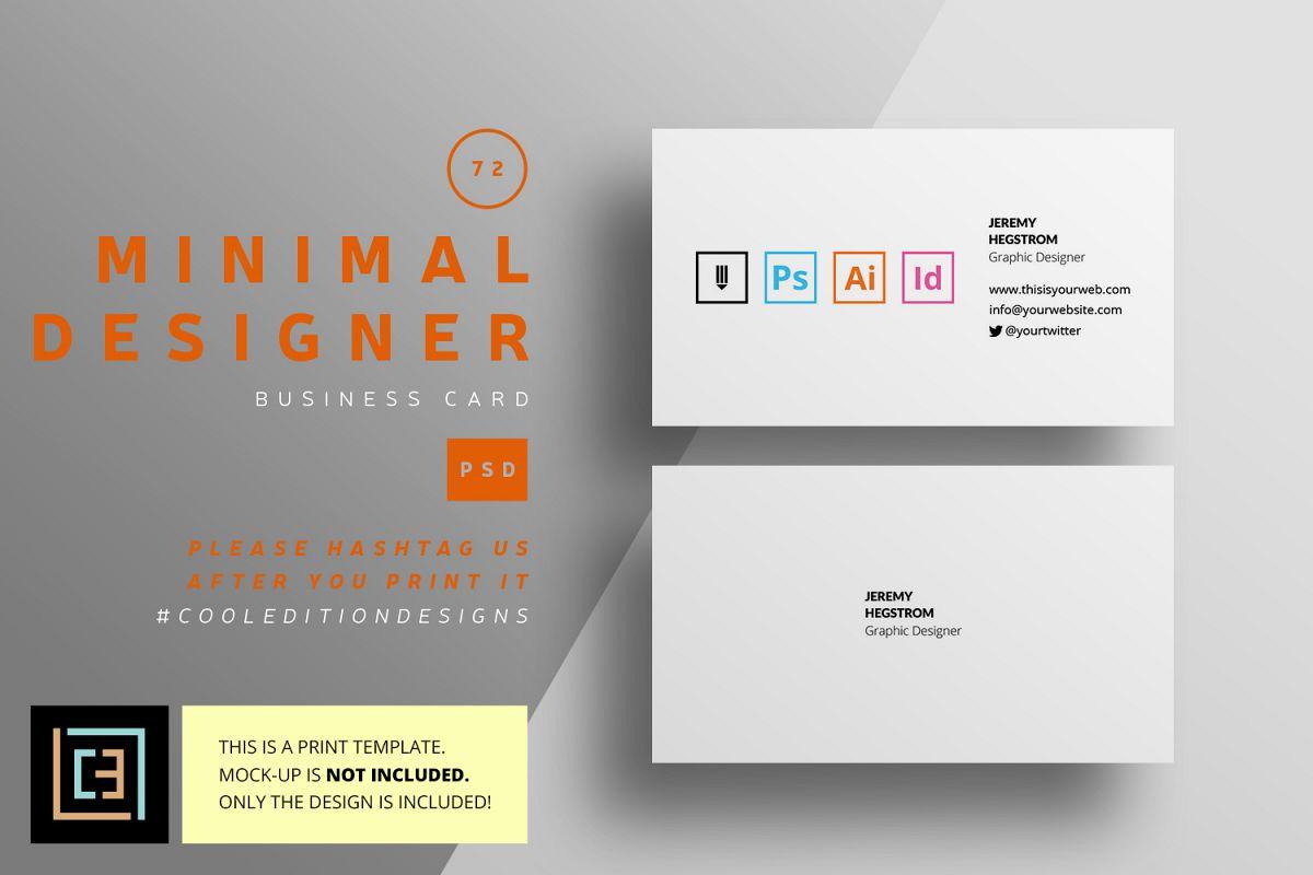 Minimal designer business card bc072 minimal designer business card bc072 example image 1 colourmoves