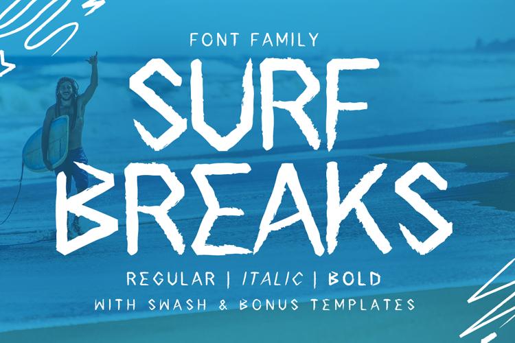Surf Breaks - Font Family & Bonus example image 1