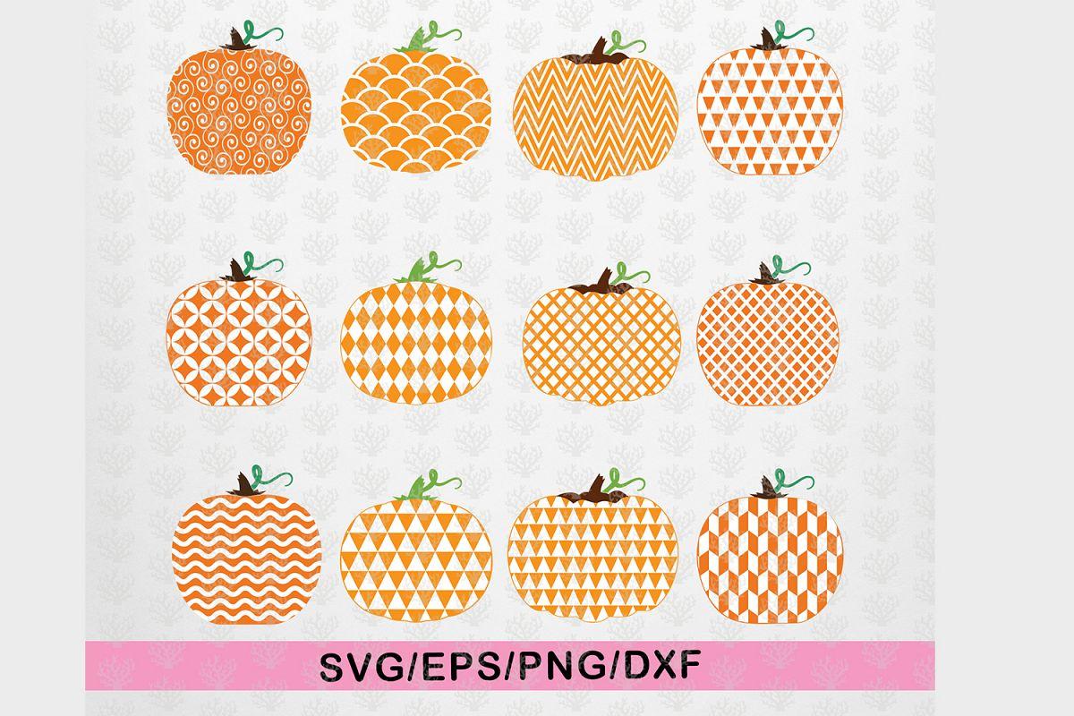 Big Halloween Bundle - 12 Decorative Pumpkin SVG EPS DXF PNG example image 1