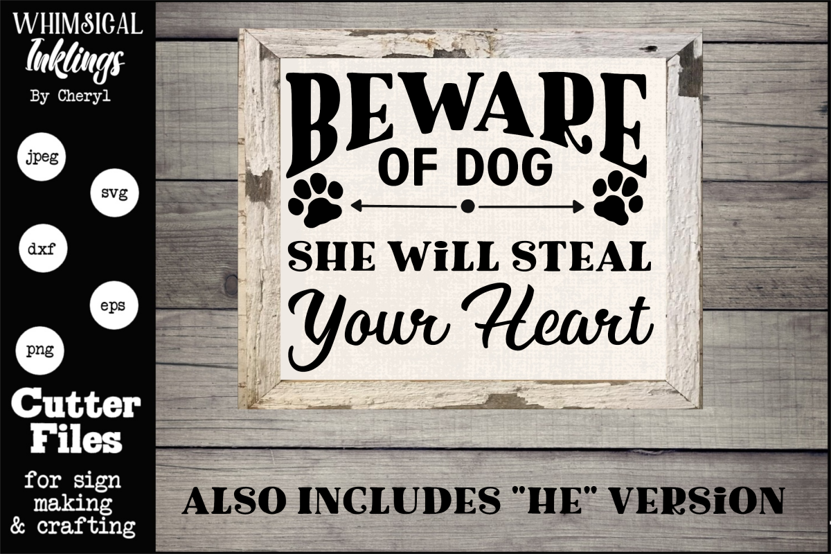 Beware Of Dog SVG example image 1