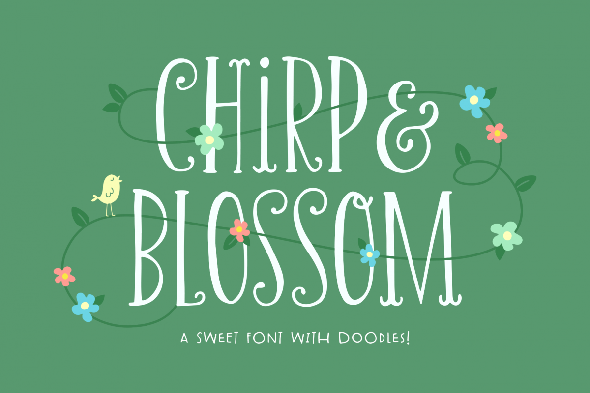 Chirp & Blossom Font example image 1