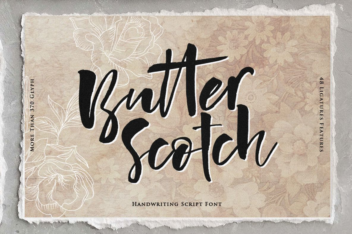 Butter Scotch Script Font example image 1