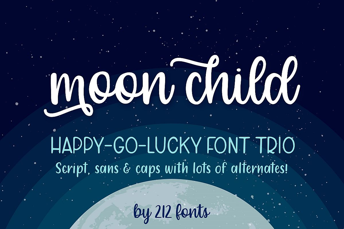 Moon Child Font Trio example image 1