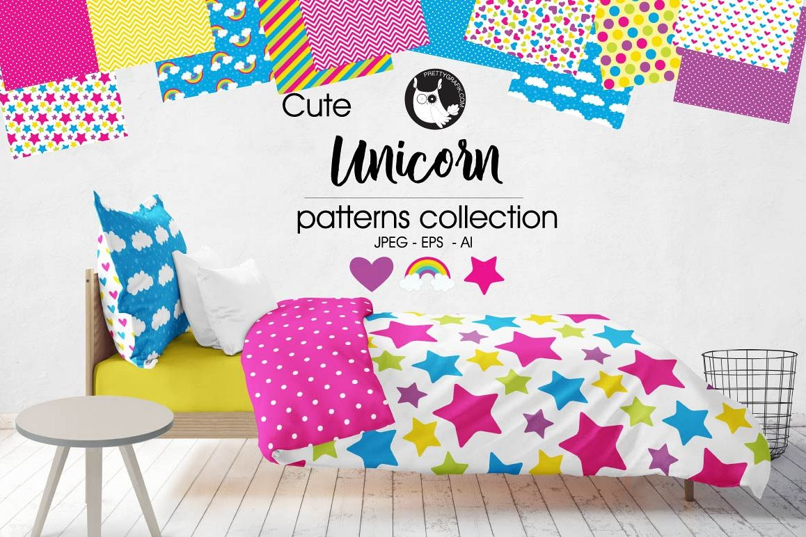 UNICORN, digital papers example image 1