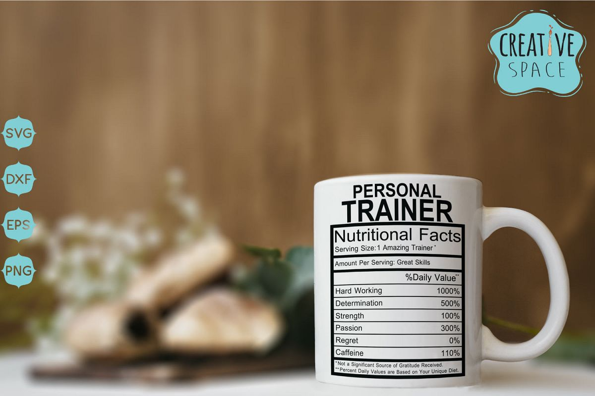 Personal Trainer Nutritional Facts Svg example image 1