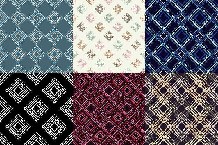6 Ethnic boho seamless pattern. Scribble texture. Retro motif. example image 1