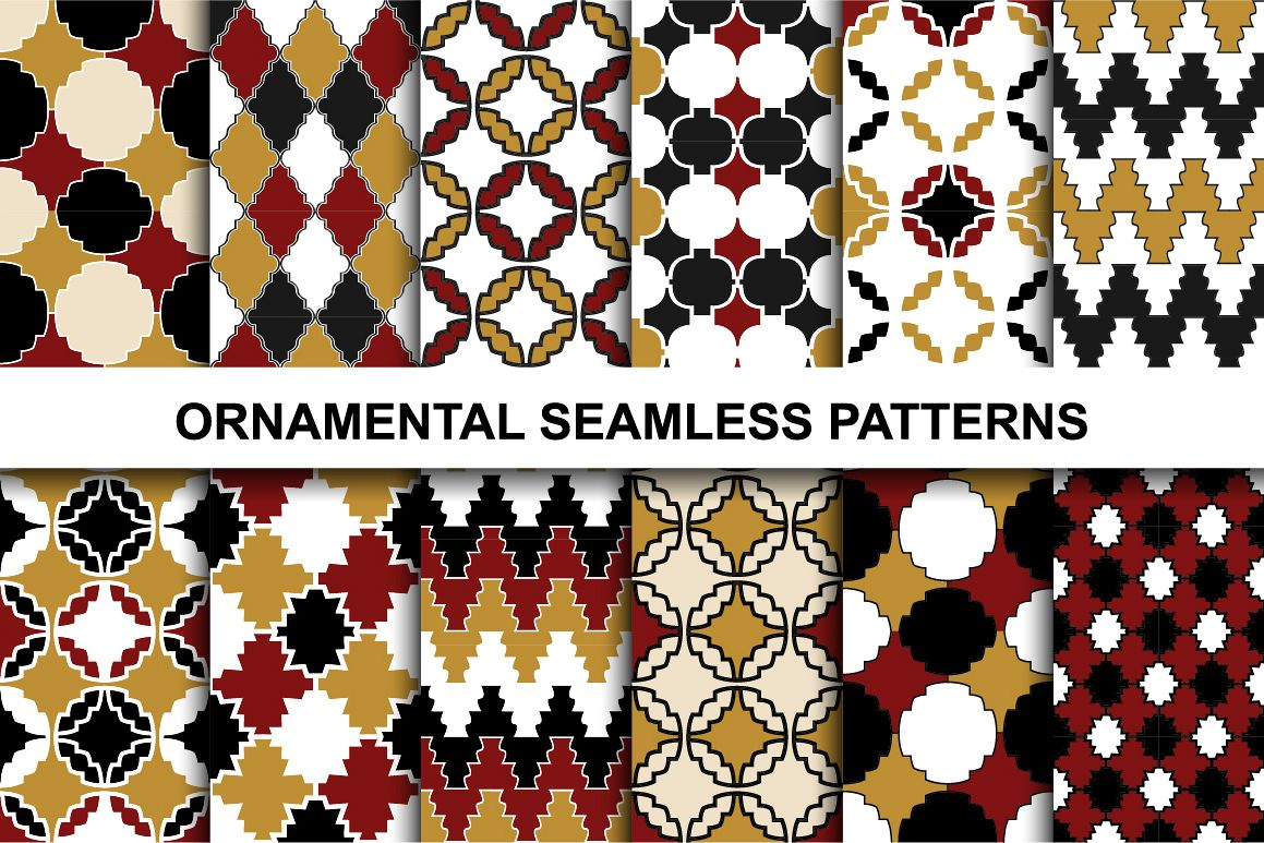 Retro ornamental patterns. example image 1
