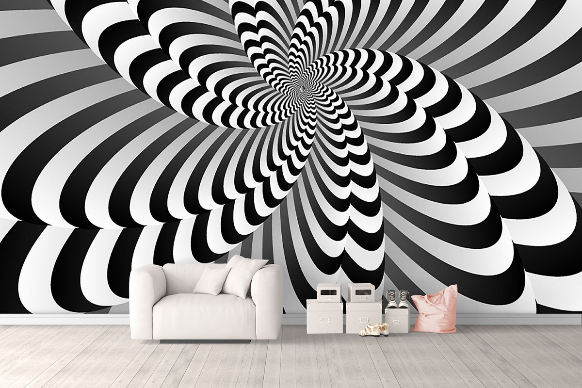 Abstract optical illusion background wallpaper example image 1