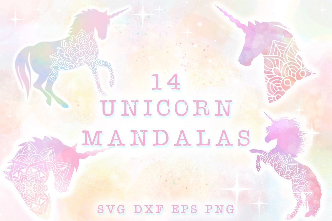 Unicorn Mandala SVG Cut Files Pack example image 1
