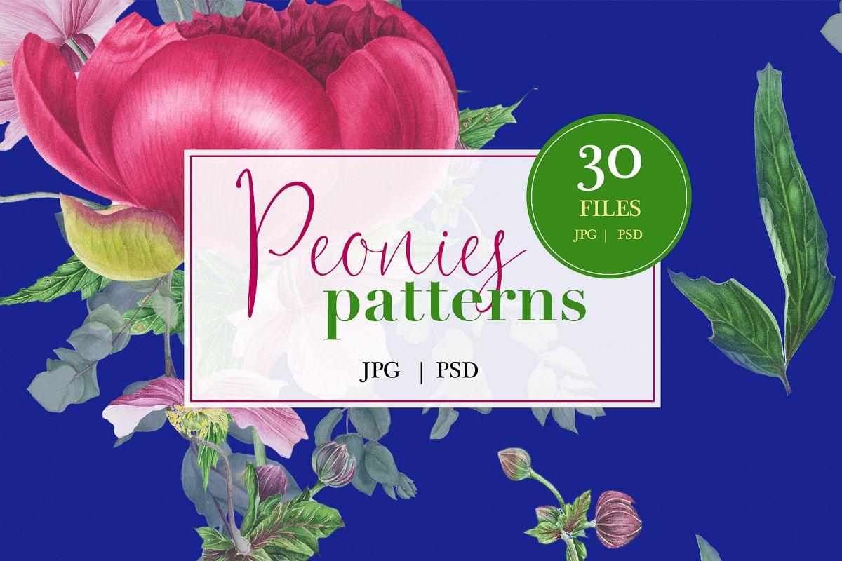 Peonies patterns example image 1