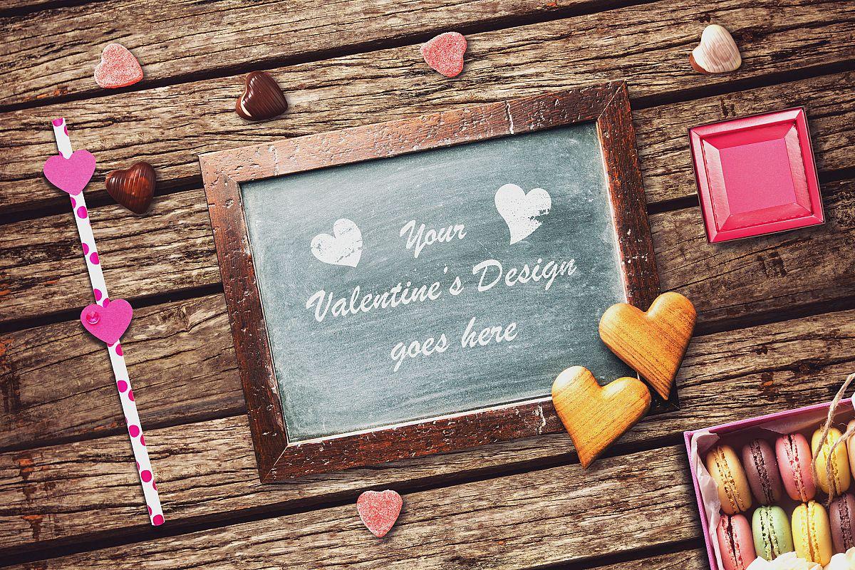Valentine Chalkboard Mock-up #3 example image 1