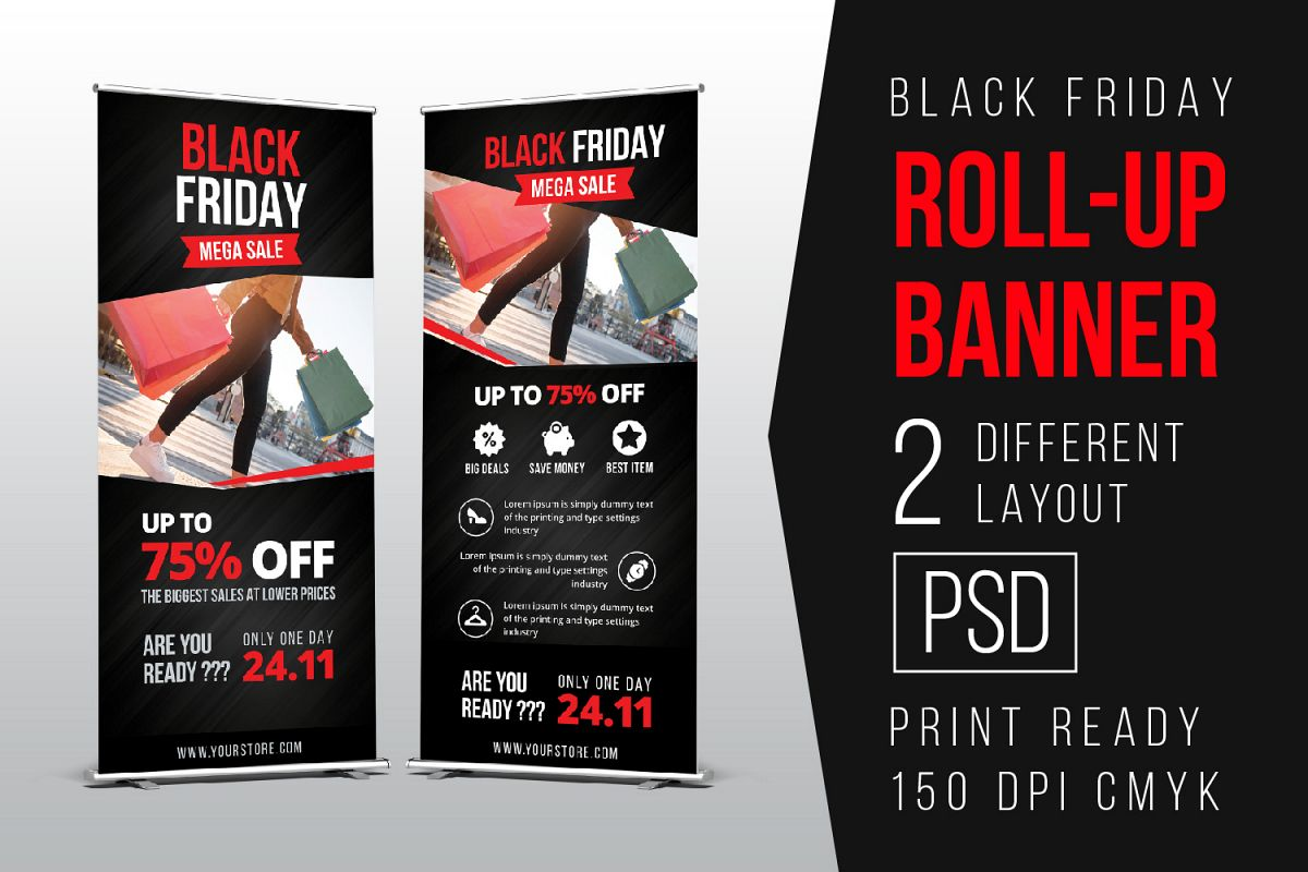 Black Friday Roll Up Banner example image 1