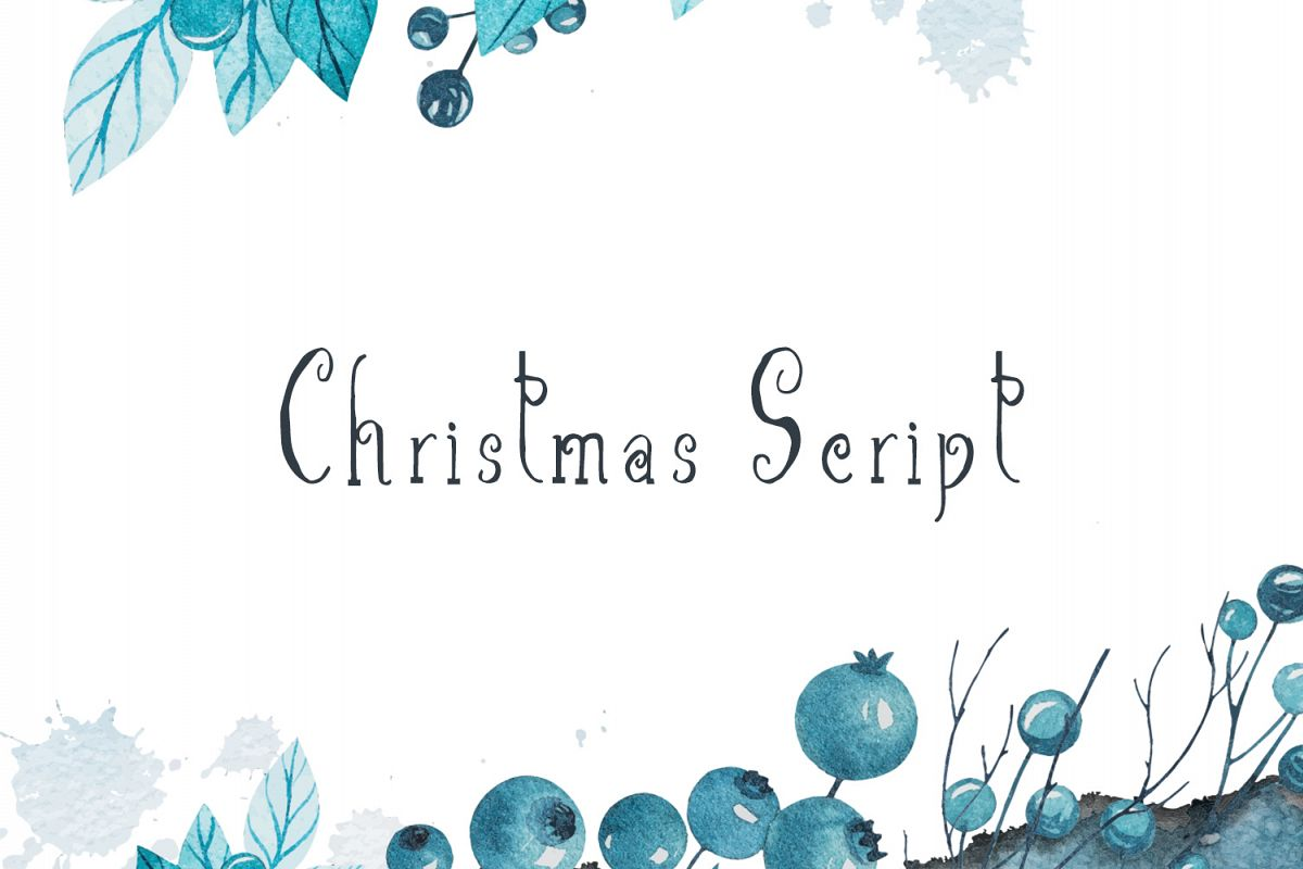 Christmas Script Font example image 1