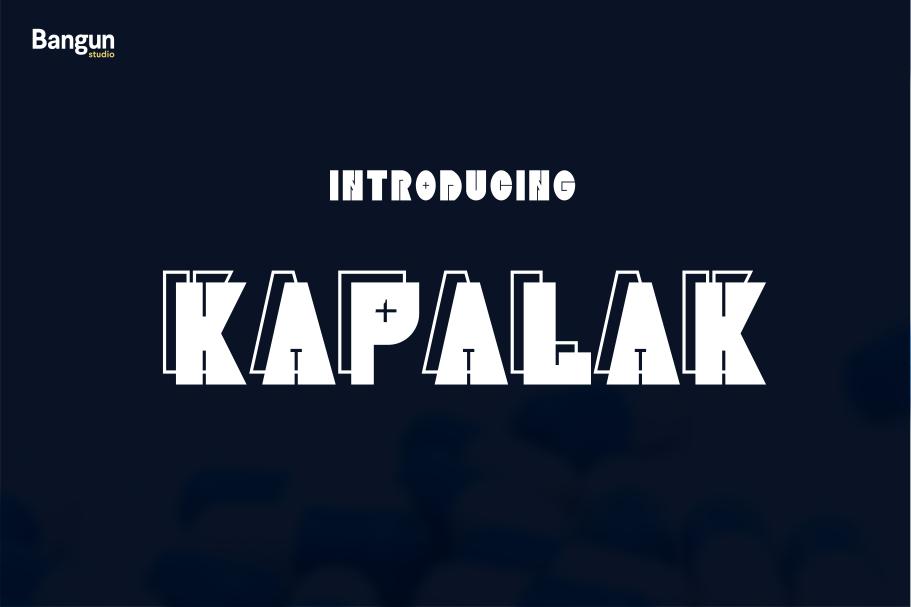 Kapalak font example image 1