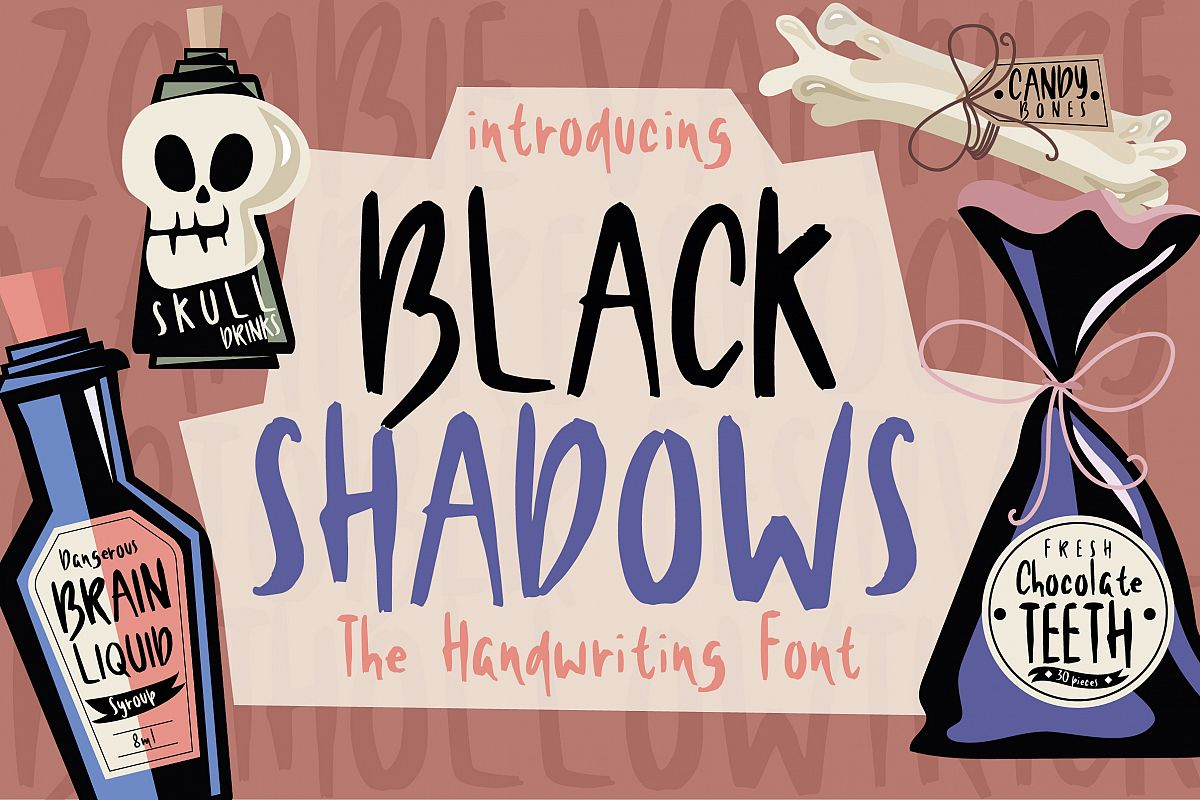 Black Shadows Font example image 1