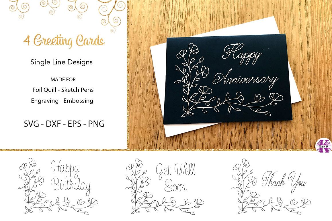 Greeting Cards for Foil Quill|Sketch Pen example image 1