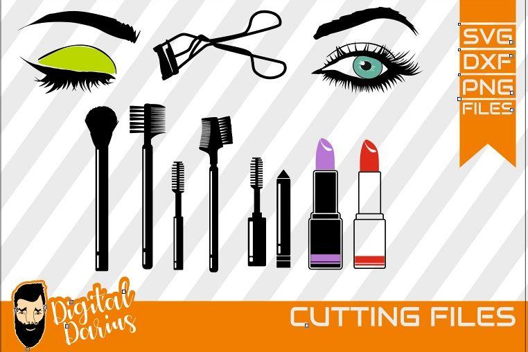 11x Make up svg, Mascara svg, Eyelash svg ,Eye, Lipstick example image 1