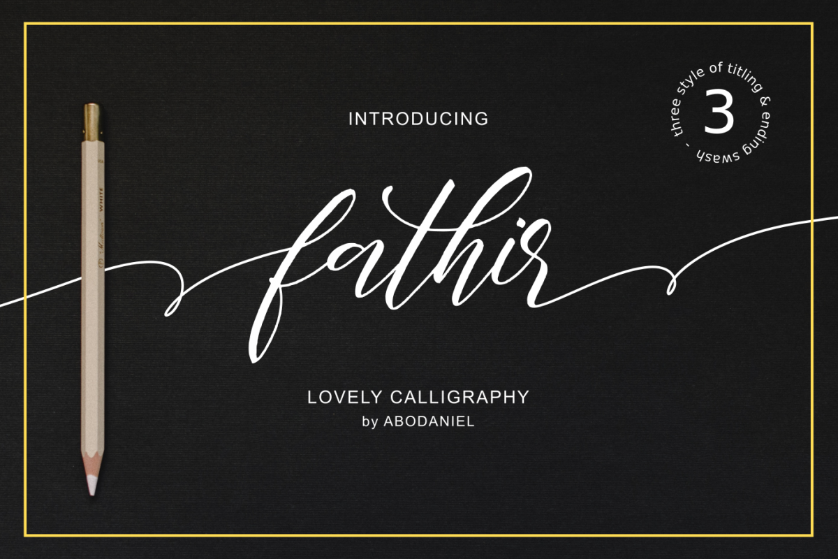Fathir - Lovely Calligraphy - example image 1