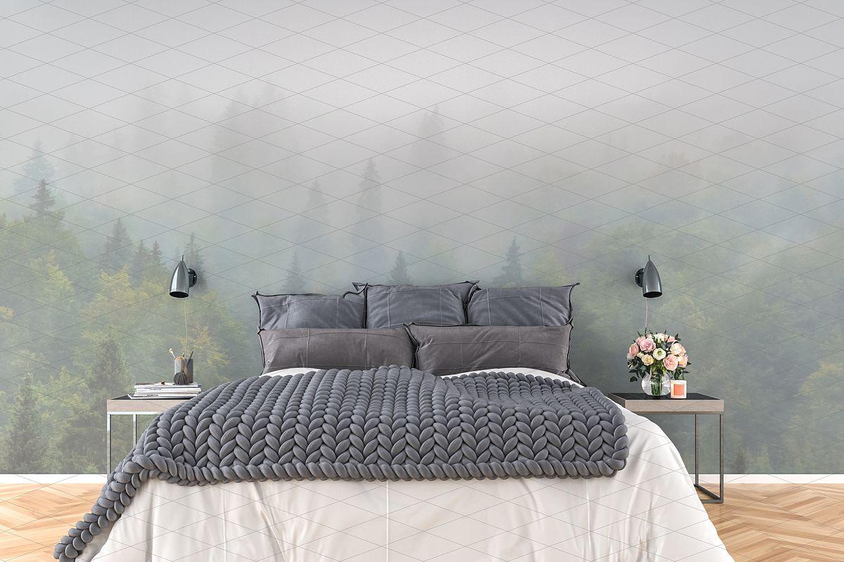 Wall mockup - wallpaper mock up example image 1