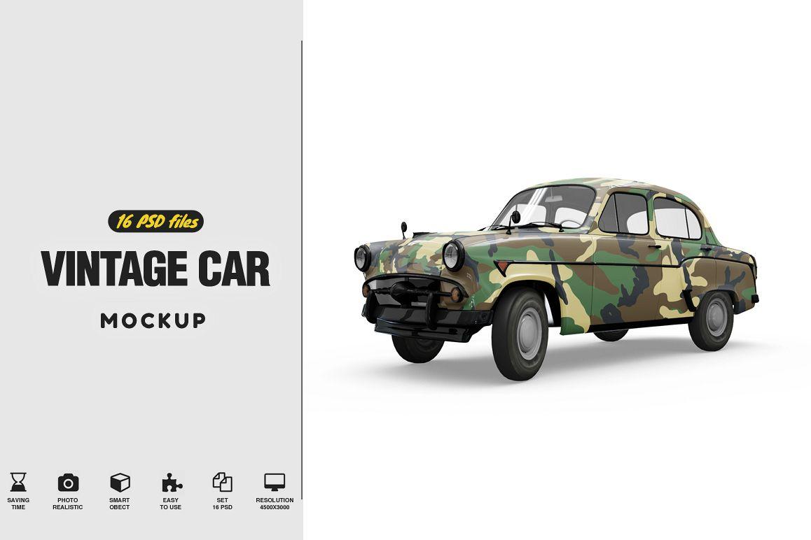 Vintage Car Mockup example image 1