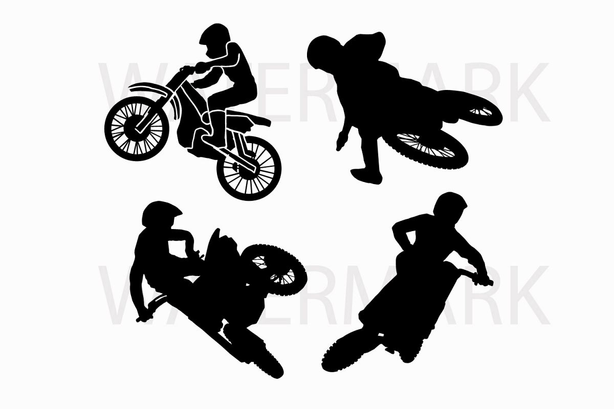 25f78e3b Four Types of Motocross - SVG/JPG/PNG Hand Drawing example image 1