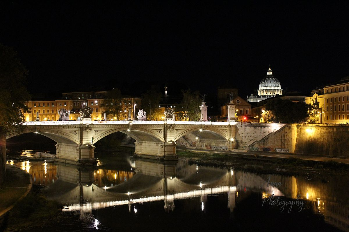 Vatican Bridge at Night example image 1