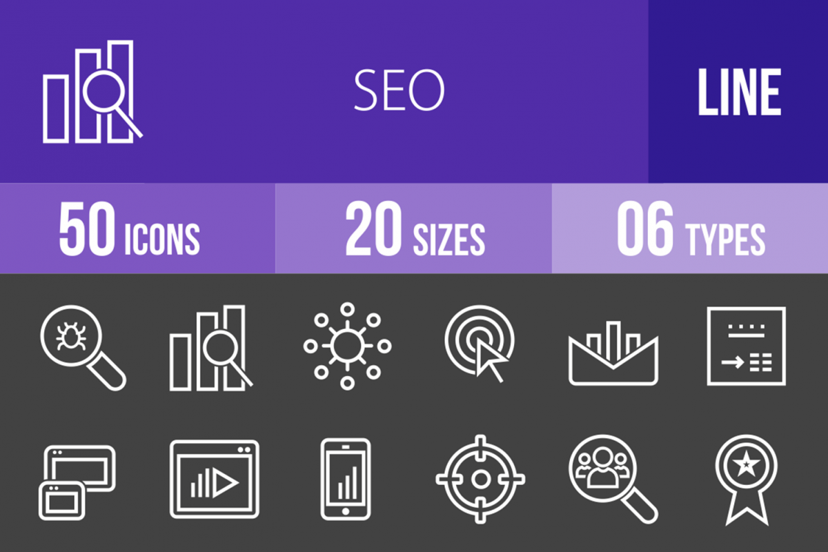 50 SEO Line Inverted Icons example image 1