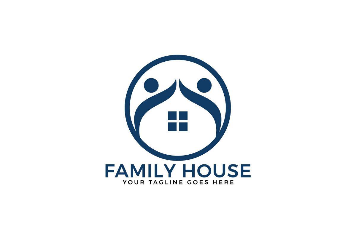 Family House Vector Logo Design. example image 1