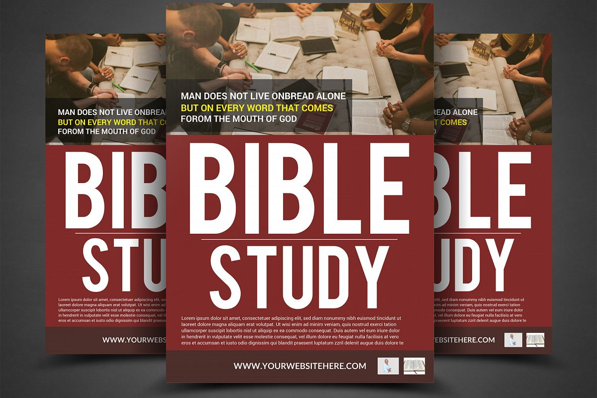 Bible Study Flyer Template example image 1
