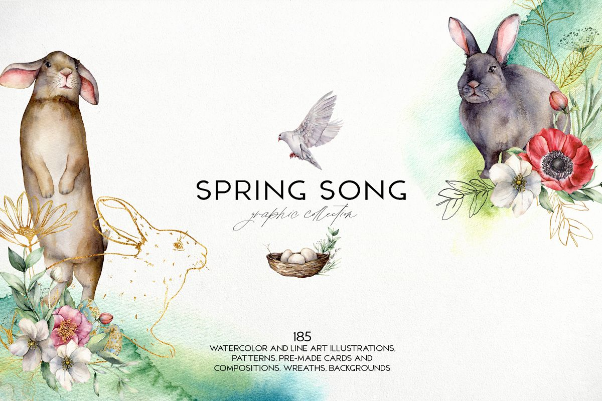 Spring song. Graphic collection example image 1