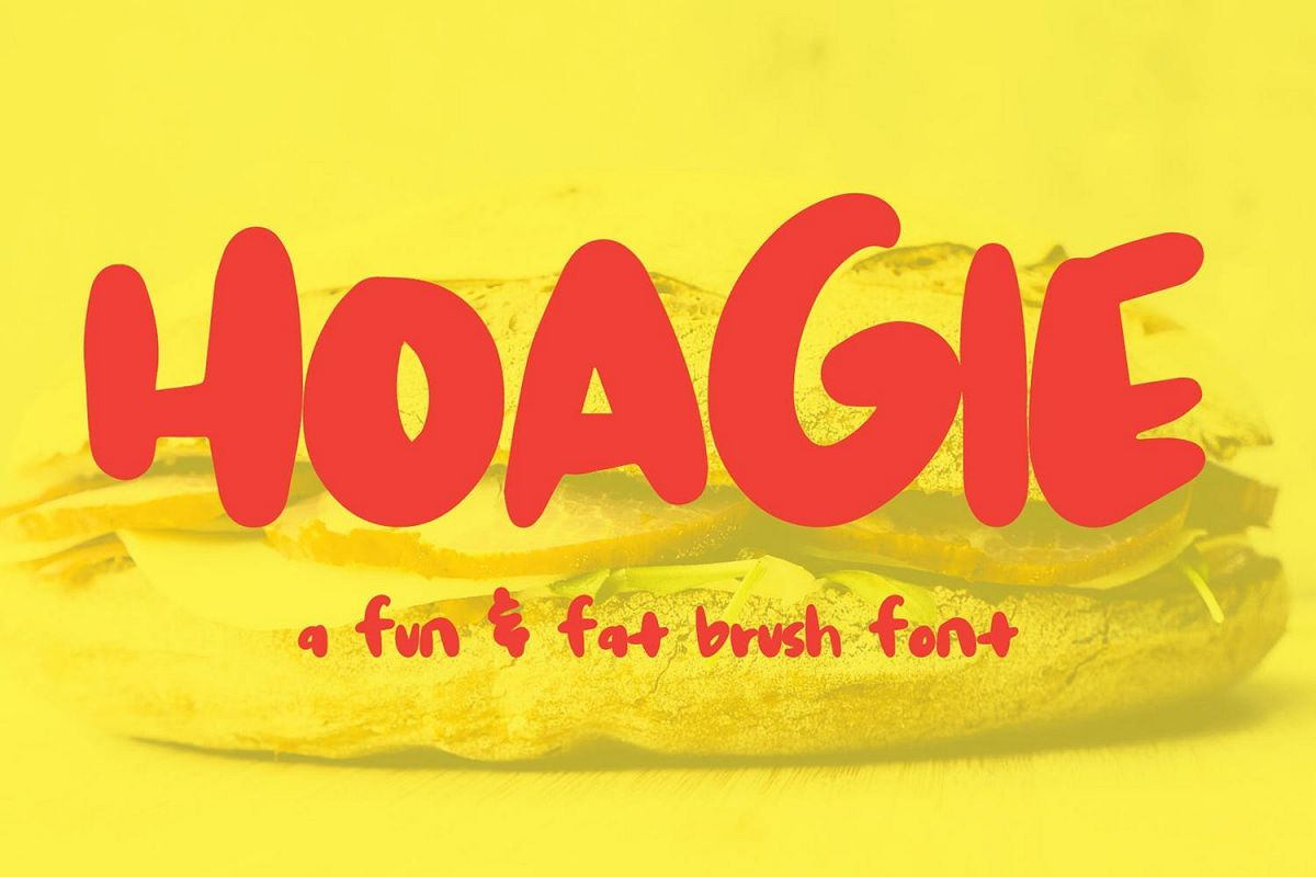 Hoagie | A fun fat brush font example image 1