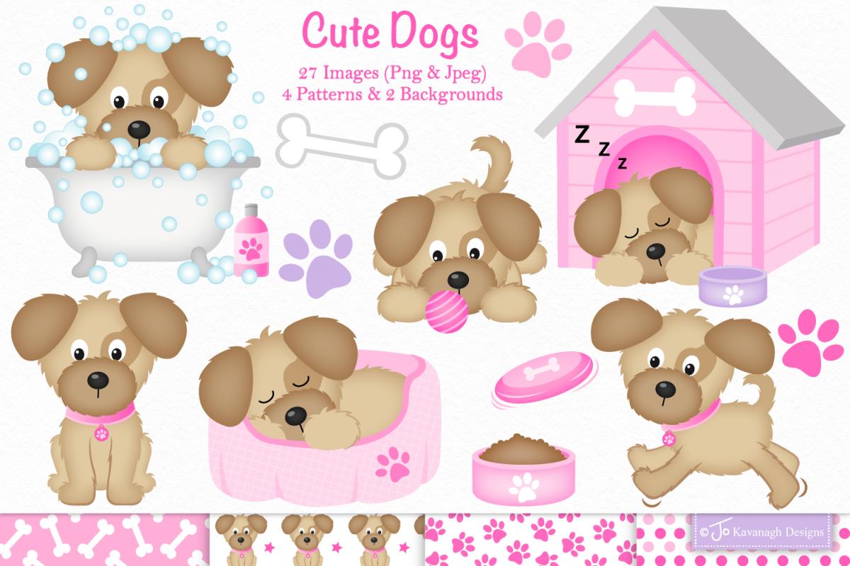 Dog clipart, Dog graphics & illustrations -C36 example image 1