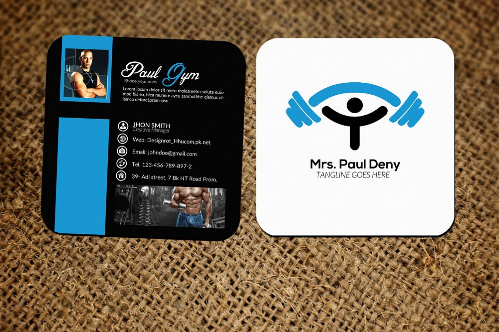 Small Gym Contact Card Templates example image 1