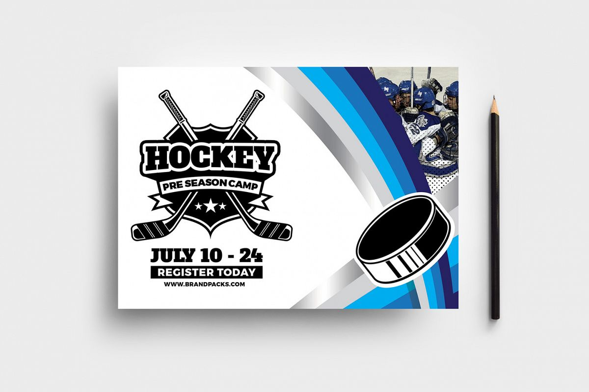 Hockey Club Flyer Template example image 1