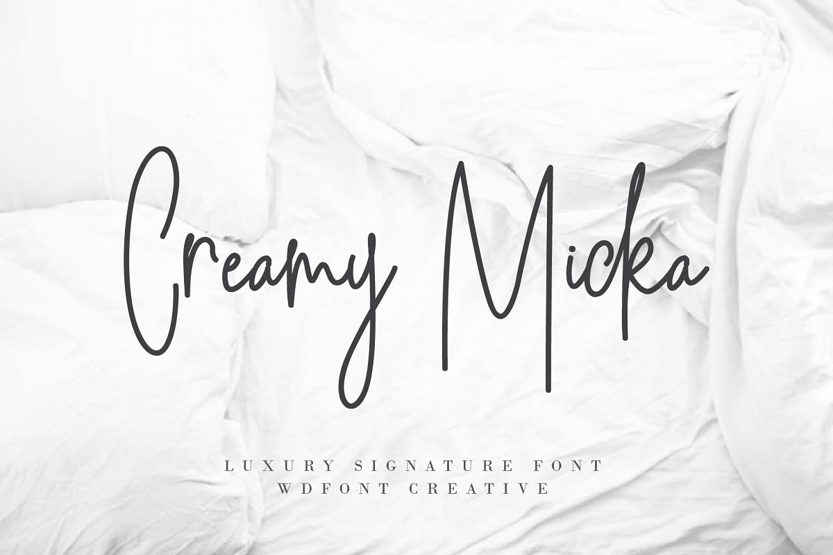 Creamy Micka | Luxury Signature Font example image 1