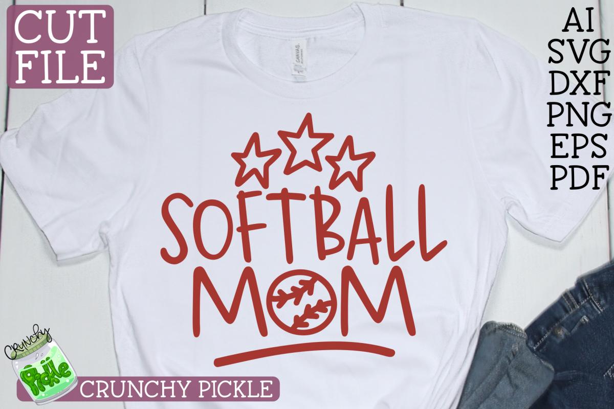 Softball Mom SVG example image 1