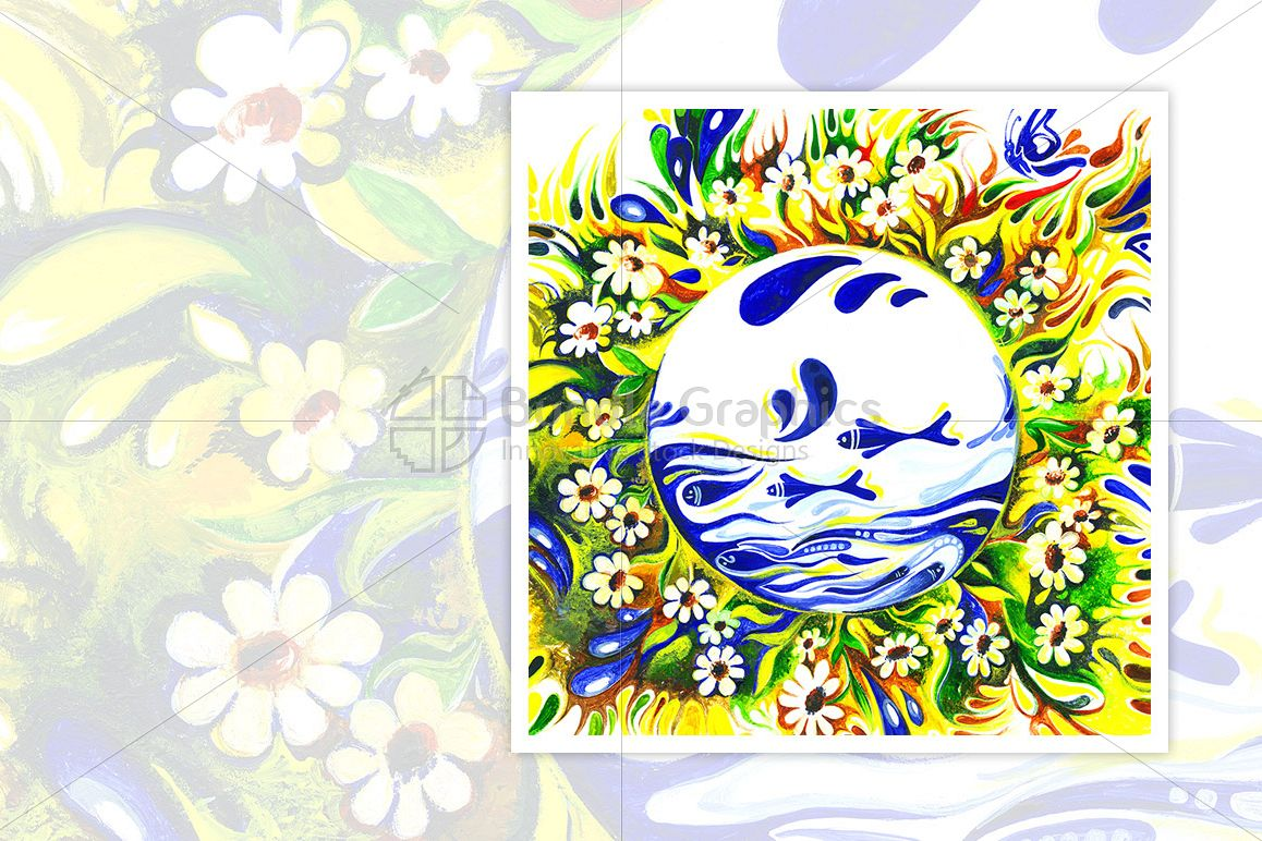 Environment Day- Abstract Painting of Mother Earth example image 1