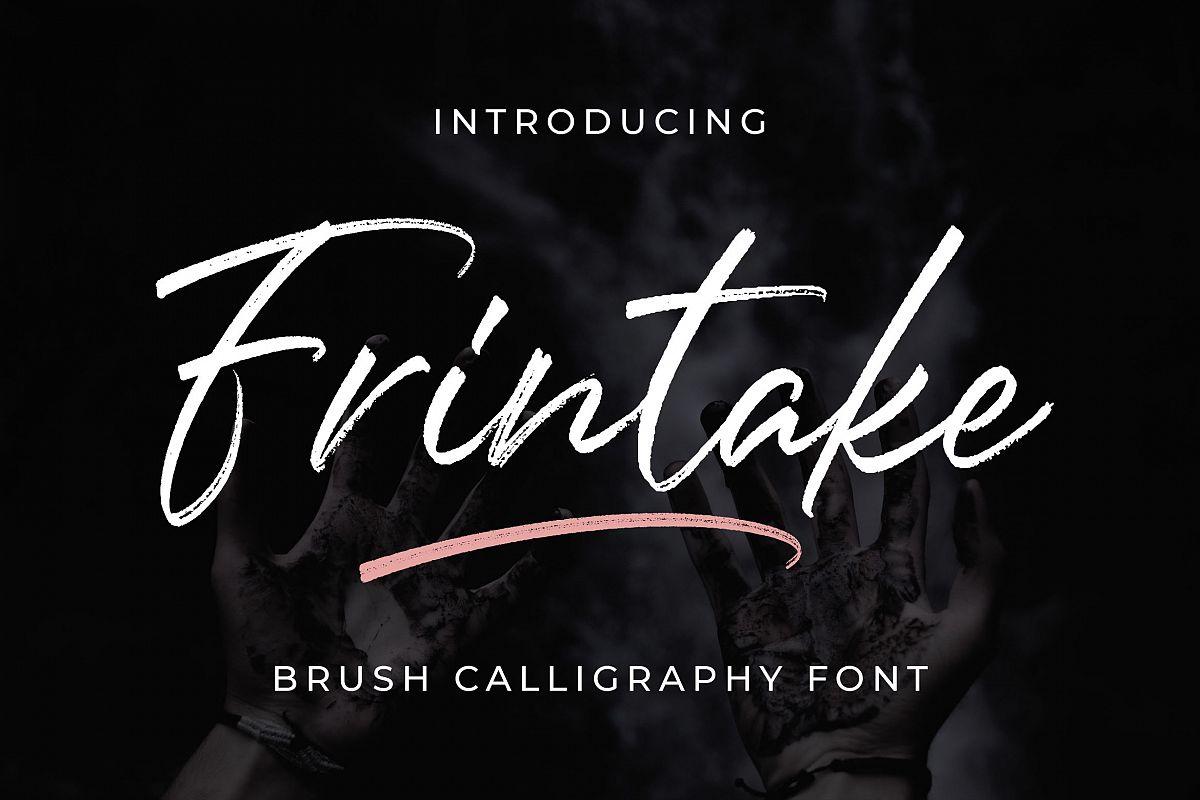 Frintake - Brush Calligraphy Font example image 1
