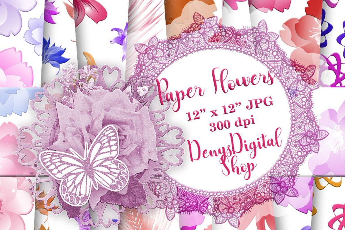 Flowers Patterned, Floral Pattern, Flowers Background example image 1