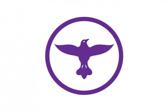 Dove Spreading Wings Circle example image 1