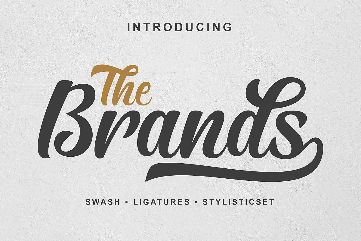 The Brands Font example image 1