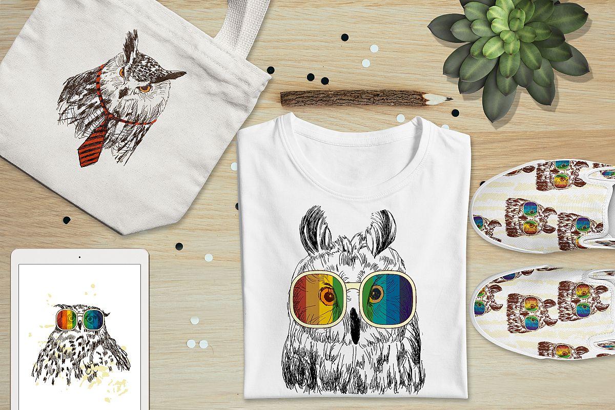 Fashion owls set example image 1