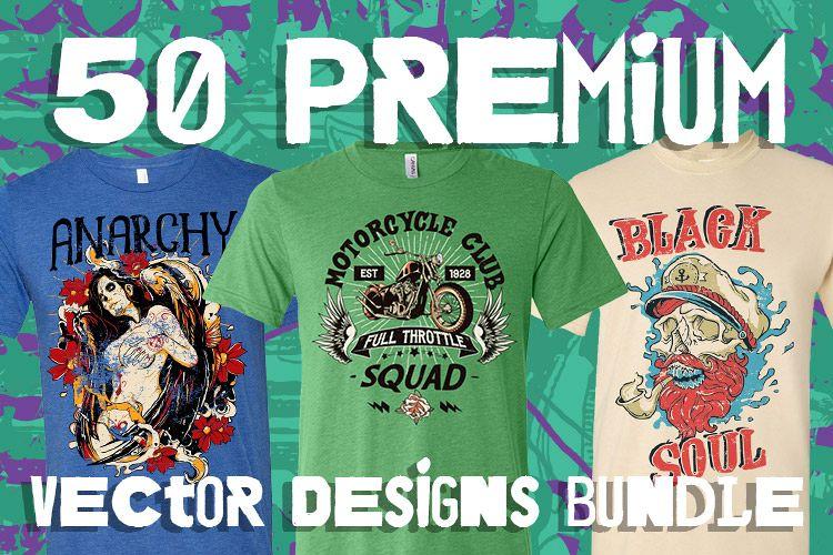 50 Premium Vector Designs Bundle example image 1