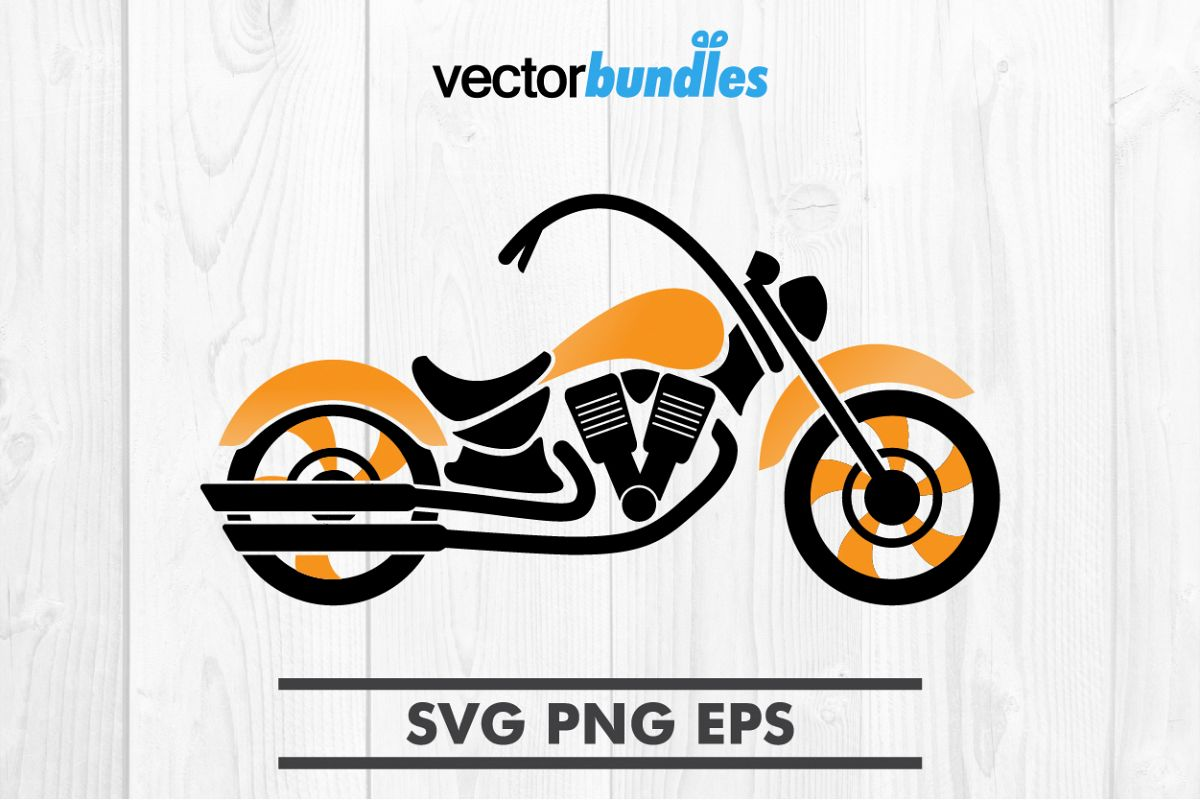 Motorcycle clip art svg example image 1