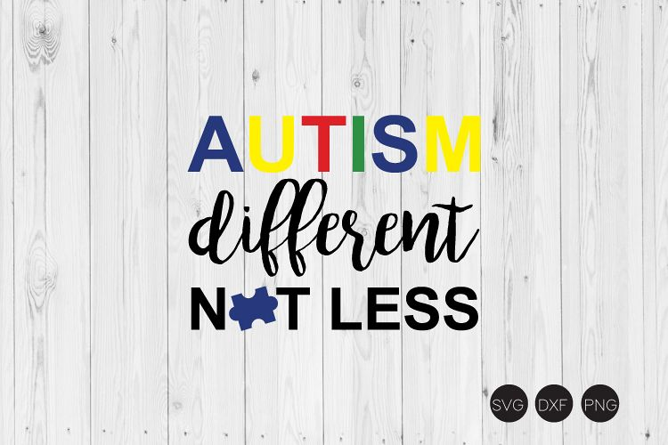 Autism Different Not Less SVG example image 1