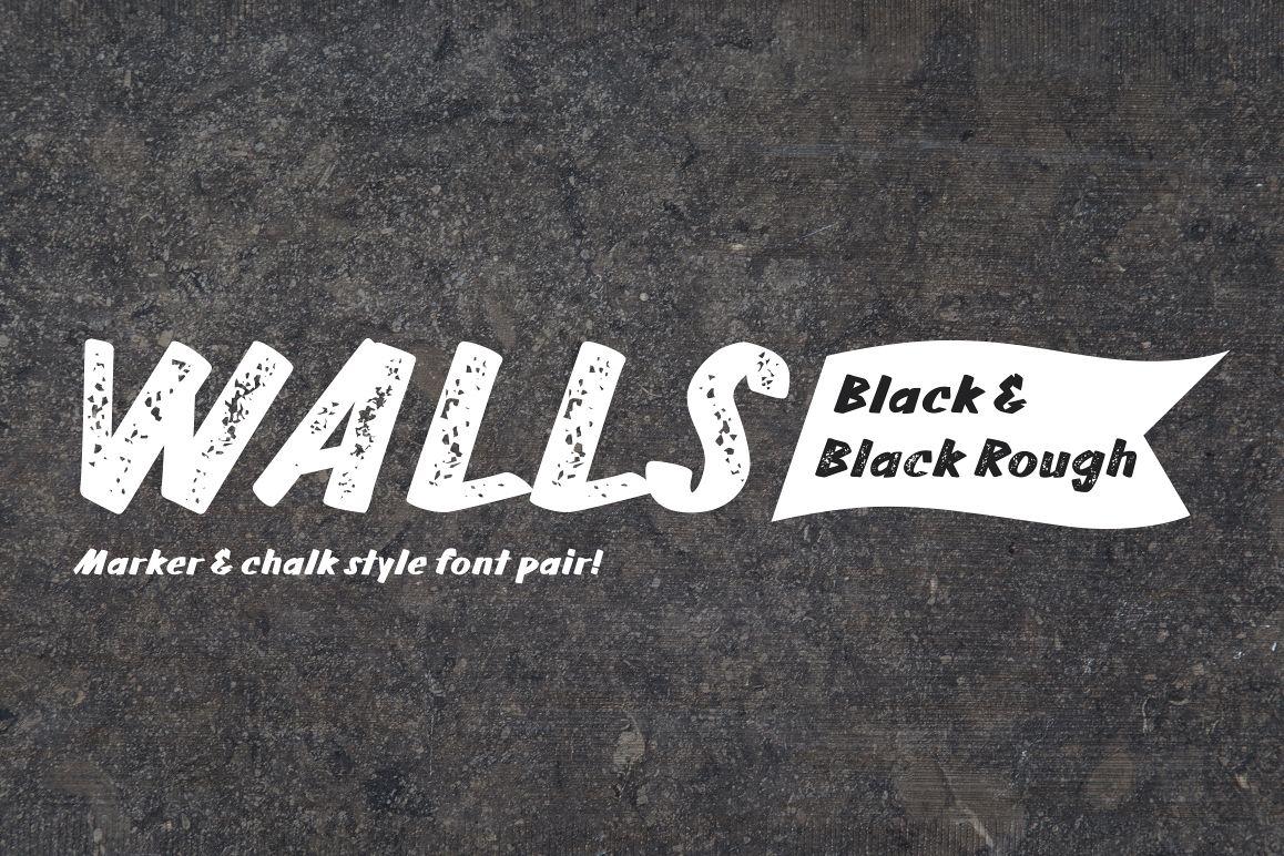 Walls Black & Walls Rough Black example image 1