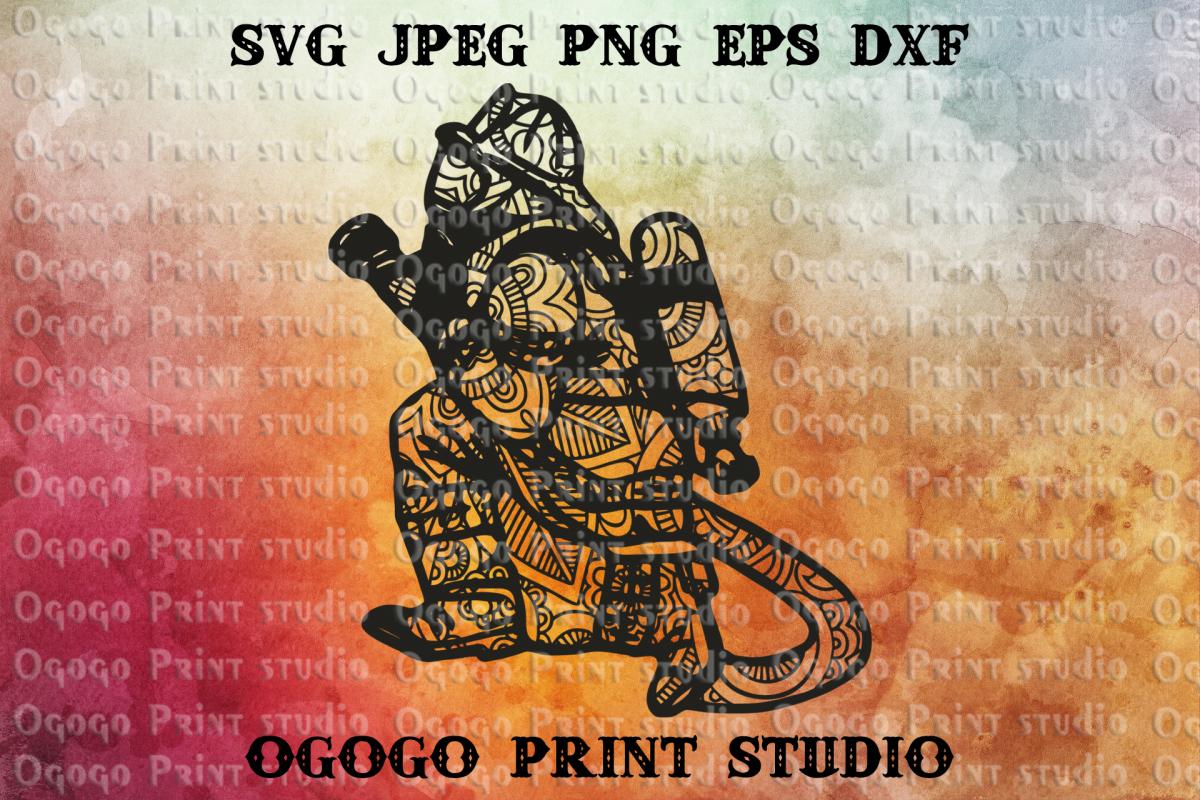 Hero svg, Firefighter Svg, Zentangle Svg, Mandala svg,Cricut example image 1